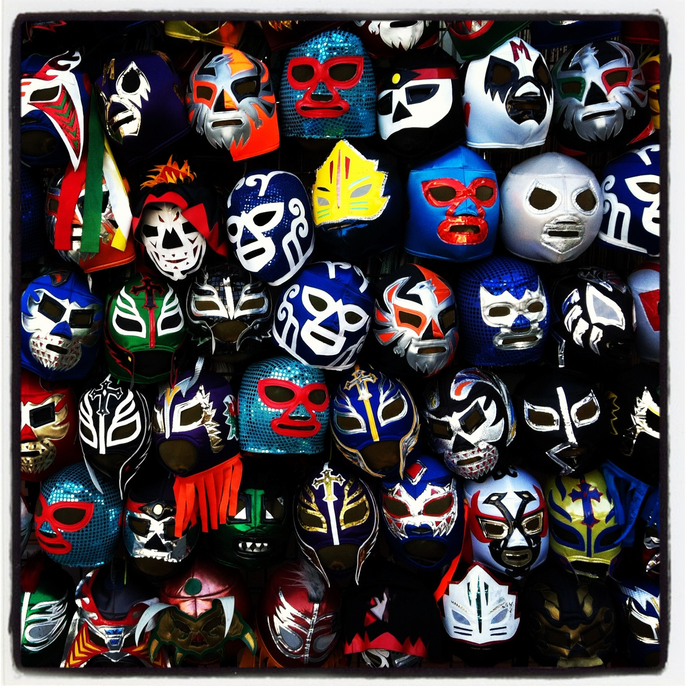Mexican Wrestling Mask Pattern These mexican wrestling masks
